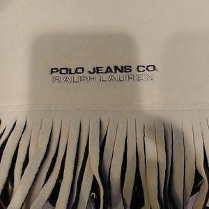 Ralph Lauren Polo Jeans Co. Unisex fringe scarf